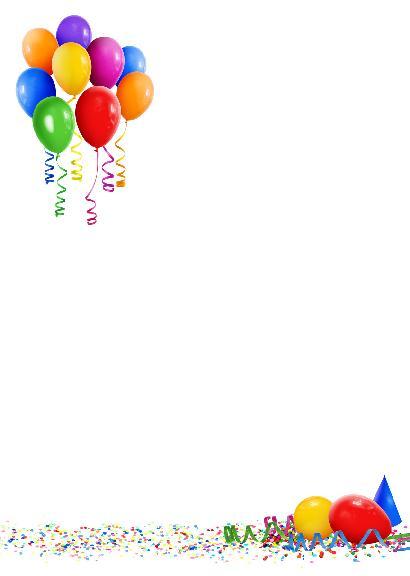 Поздравления с днем рождения на бумаге а4