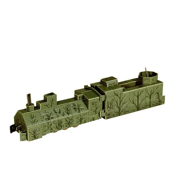 Анонс-изображение товара конструктор из бумаги бронепаровоз, 302