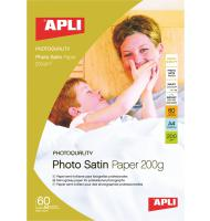 Фотобумага APLI Photo Satin, А4, 20 л, 200 г/м2, сатин