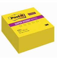 Куб 3M Post-it 2028-S Super Sticky 76х76мм, 350л, неон желтый