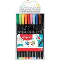 Graph Pep`S Ручка Капиллярная, Толщина Линии - 0,4 Мм, Эргономичная Зона Обхвата, 10 Цветов