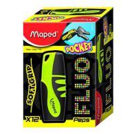 Текстовыделитель MAPED FLUO PEP'S POCKET SOFT, 1-5мм, устойчивые к солнечному свету чернила, желтый