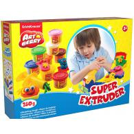 Пластилин Erich Krause Super Extruder Playset, 8 банок*35гр