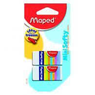 Ластик Maped SOFTY MINI мягкий, в картонном футляре, в блистере 2шт