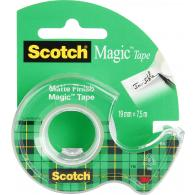 Лента клейкая Scotch Magic, 19 мм*7,5 м, невидимая, на мини-диспенсере