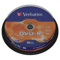 Диски Verbatim DVD-R 4,7 Гб 16*Wagon Wheel/10 43729