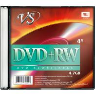 Диск DVD+RW VS 4,7GB, 4x, slim/5шт