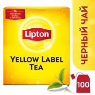 Чай Lipton Yellow Label, черный, 100пак/пач