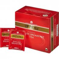 Чай Twinings English Breakfast Tea, черный, 50пак/пач