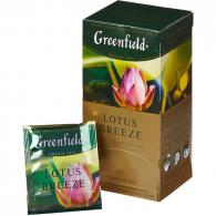 Чай Greenfield Lotus Breeze зеленый, 25пак/уп
