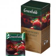 Чай Greenfield Strawberry gourmet, черный, 25пак/уп