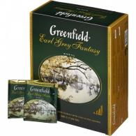 Чай Greenfield Earl Grey Fantasy, черный, 100пак/уп