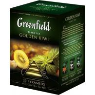 Чай Greenfield Golden Kiwi, черный, пирамидки, 20 пак/уп