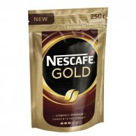 Кофе Nescafe Gold, растворимый, 250г, пакет