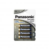 Батарейка щелочная Panasonic LR6 (AA) Everyday Power (Standard) 1.5В бл/4