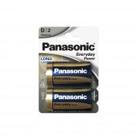Батарейка щелочная Panasonic LR20 (D) Everyday Power (Standard) 1.5В бл/2