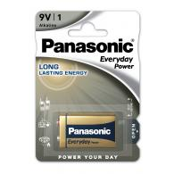 Батарейка щелочная Panasonic 6LR61 Everyday Power (Standard) 9В бл/1
