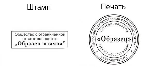 Форма печати и штампа